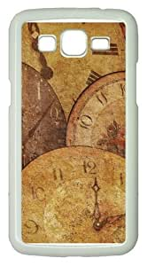 Clock Antique Arrow Texture Polycarbonate Hard Case Cover for Samsung Grand 2/7106 White
