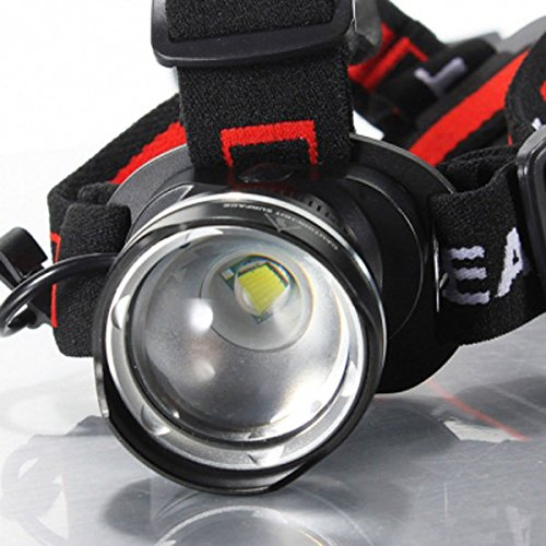 T6 LED 1600Lm Rechargeable Zoomable Bike Bicycle Headlight Headlamp ( Silver ) by Freelance Shop SportingGoods (Image #4)