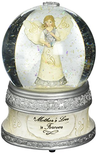 Pavilion Gift Company Elements 82329 100mm Musical Water Globe with Angel Figurine, A Mother