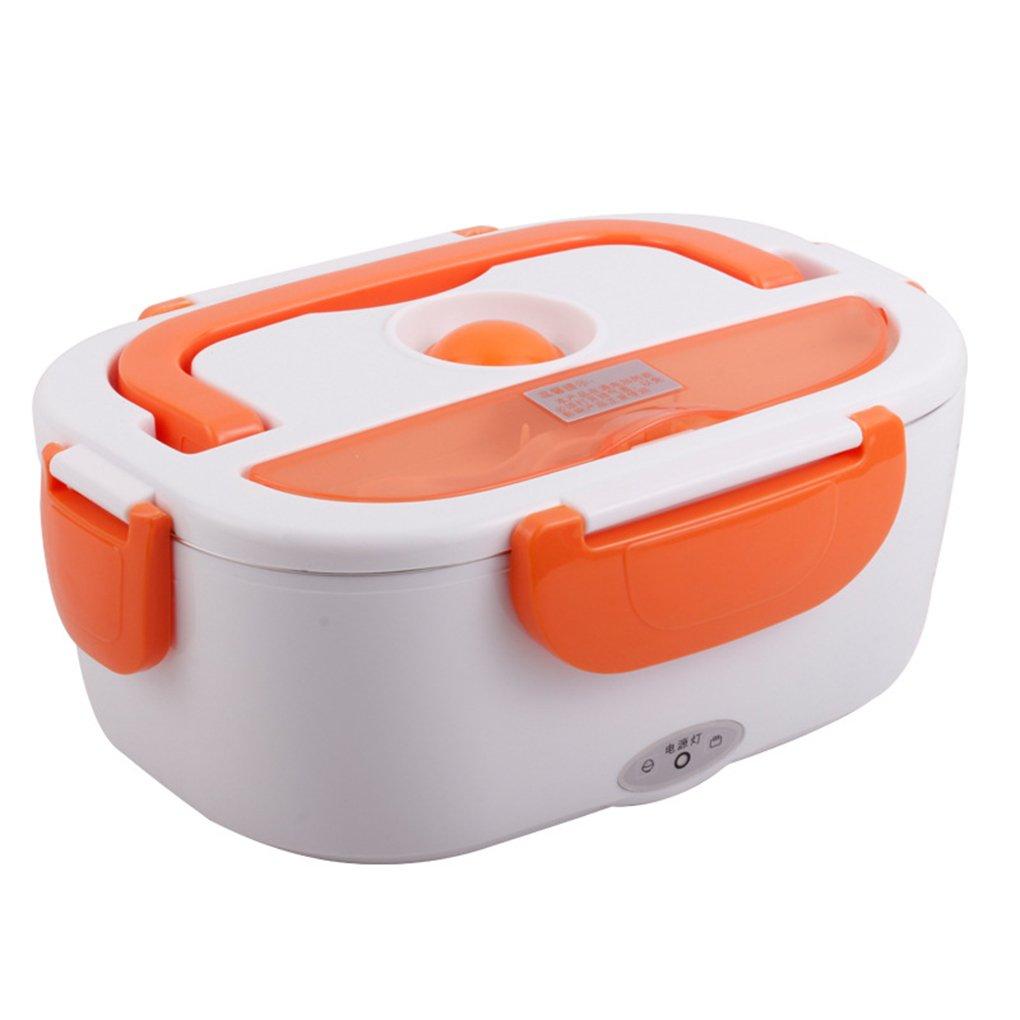 orange FAPPY Bo/îte Chauffante Bo/îte Lunch /Électrique Bo/îte Alimentaires Bo/îte Repas rev/êtement en isolation en acier inoxydable,Bo/îtes-repas nettoyage amovible,EU-Bouchon ,bo/îtier en plastique