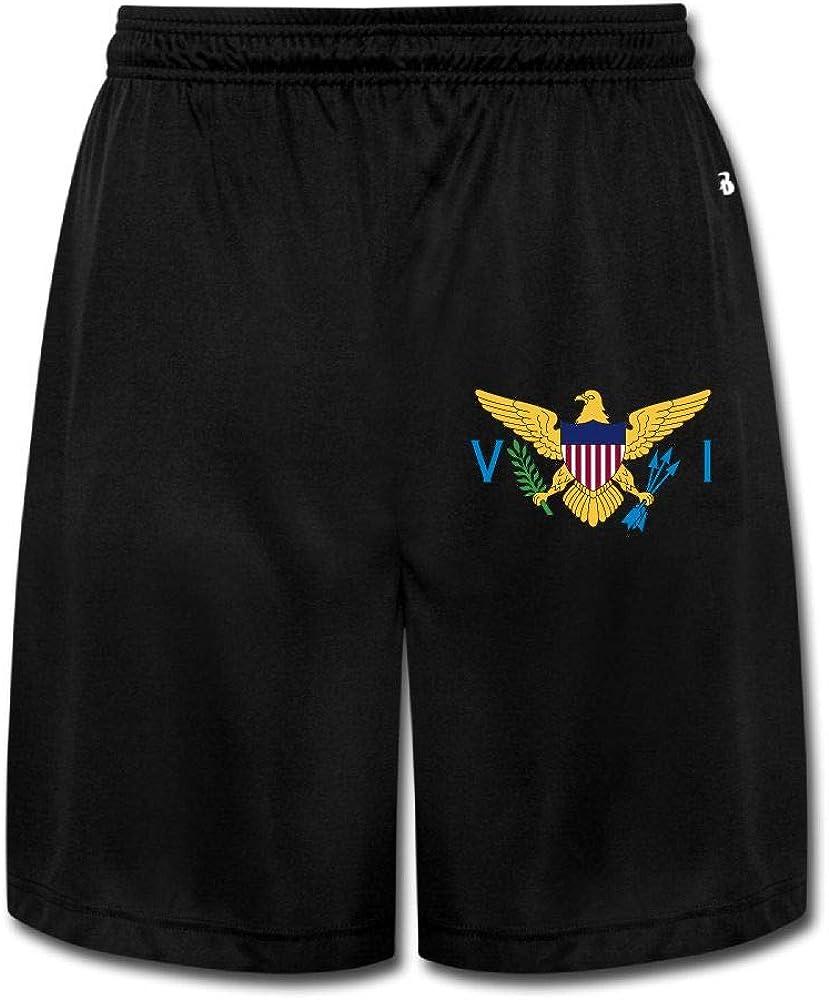 MH08OMG Virgin Islands Mens Casual Classic Fit Joggers Sweatpants Short Pants