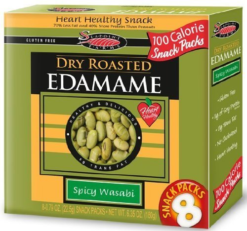 Spicy Wasabi Dry Roasted Edamame 6.32 Ounces (Case of 12) For Sale