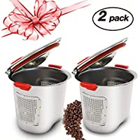 Premium Stainless Steel Reusable K Cup for Keurig 2.0,Refillable Coffee Filter Compatible With Keurig Brewers 1.0 & 2.0 - for K200, K300, K400, K500 Series(2Pack,Silver)