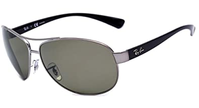 e4d7cbacd7b Amazon.com  Ray Ban RB3386 004 9A 67mm Gunmetal Polarized Green ...