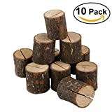 Tinksky 10pcs Wooden Name Place Card Holder Table Number Stand Table Decoration