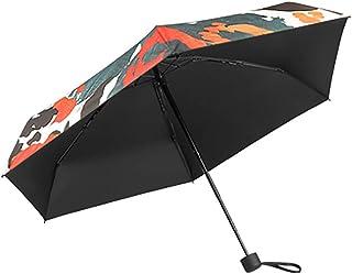 JINPAI Petit Parapluie De Protection Solaire Ultra-LéGer Parapluie Pliant Double Femelle à Double éCran Solaire UV Parapluie Cinq