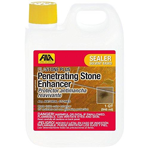 FILA Stone Enhancer Sealer Stoneplus 1 QT, Natural Stone Sealer, Tile Sealer Enhancer, Solvent Based