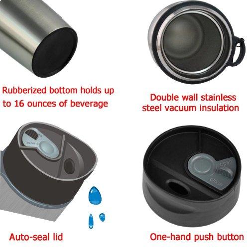 Bestek 174 16oz Double Wall Stainless Steel Mug Thermal