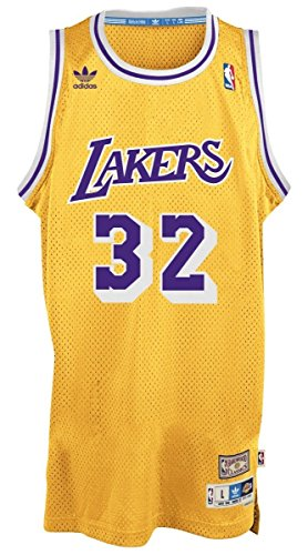Earvin Johnson Los Angeles Lakers Gold Throwback Swingman Jersey (Los Angeles Lakers Throw)