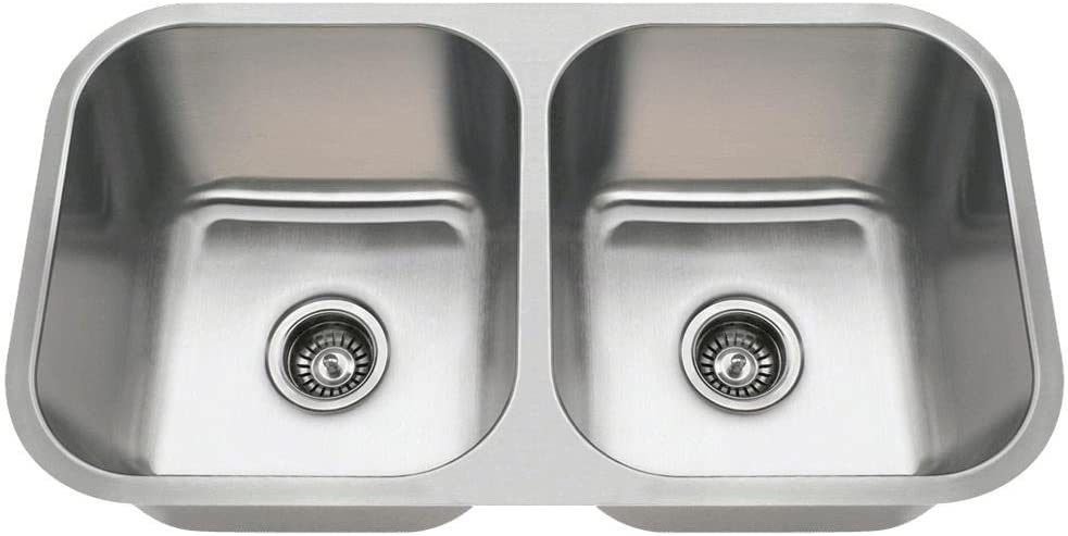 3218a 18 Gauge Undermount Equal Double Bowl Stainless Steel Kitchen Sink Stainless Steel Undermount Kitchen Sink