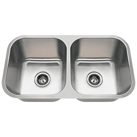 3218A 18-Gauge Undermount Equal Double Bowl Stainless Steel ...