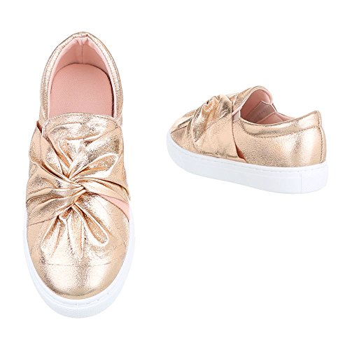 Ital-Design - Tobillo bajo Mujer Rosa Gold 6677-P