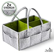 Baby Diaper Caddy & Nursery Organizer by JoyShark – Ideal Baby Storage Bin Keeps Everything in Reach – Multiuse & Unisex Large Portable Diaper Caddy