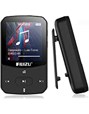 Bluetooth 5.0mp3 Player 8GB Portable Motion Clip MP3 Player HiFi Music Player with HD Screen, Support for Video Playback, Recording, eBook, FM Radio,