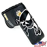 King Skull Black Putter Cover Headcover For Scotty Cameron Taylormade Odyssey Blade