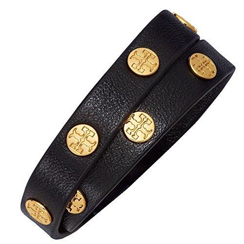 Tory Burch Bracelet Double Wrap Logo TB Leather Studded