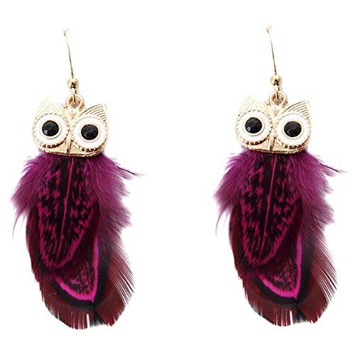 Rada Costume Jewelry (MosierBizne The New Owl Feather Earrings(2))