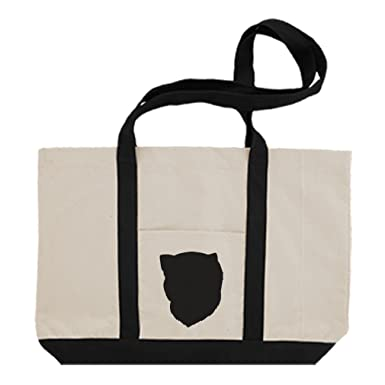 7485a04d6c Amazon.com  Cotton Canvas Boat Tote Bag Turkish Van Cat Head Silhouette By  Style In Print