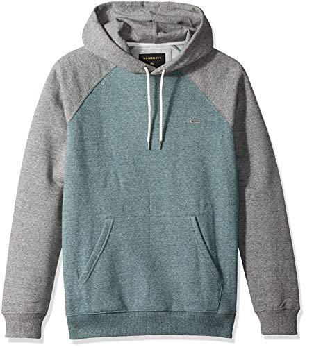 Quiksilver Men's Everyday Hood Fleece Top, Light Grey Heather L
