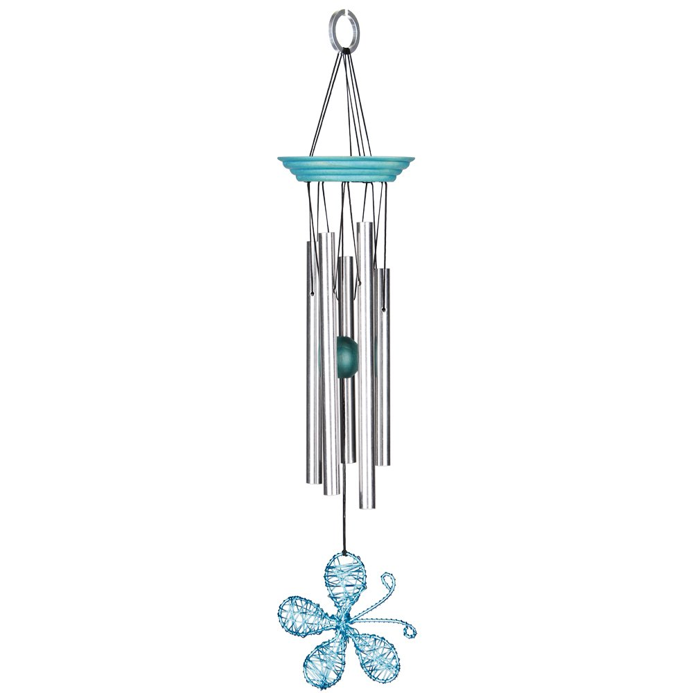 Woodstock Chimes IDBA Isabelle's Dancing Butterfly Wind Chime, Aqua