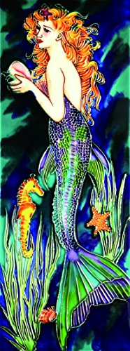 Mermaid Deep Ocean - Decorative Ceramic Art Tile - 6