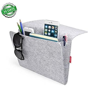 Bedside Caddy, Felt Bed Caddy Storage Organizer Bedside Pocket Inside With  2 Small Pockets For