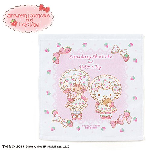 Sanrio Hello Kitty × Strawberry Shortcake hand towel From Japan New (Strawberry Shortcake Outfits For Toddlers)