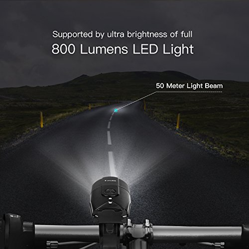 FYLINA Bike Light Kit Front and Back, Bicycle Headlight Rechargeable with Two Tail Light Powerful Lumens Bicycle Led Light Set Waterproof Fits with Mountain Bike, Road Bike for Safety by FYLINA (Image #1)