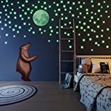 Glow in The Dark Stars and Full Moon Wall