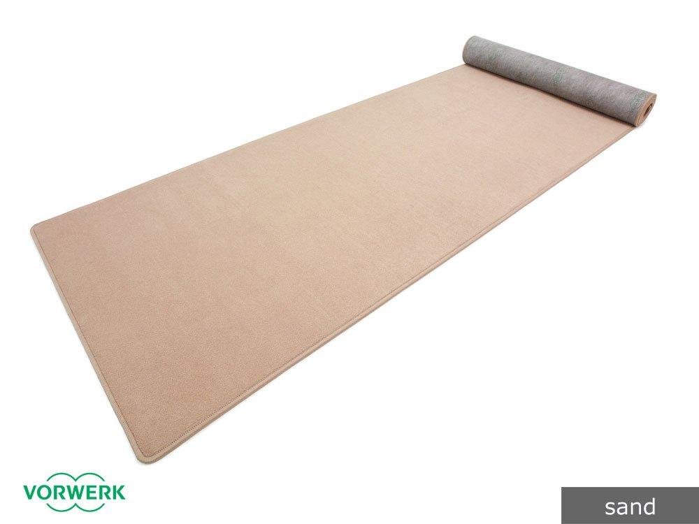 Bijou UNI - Der Vorwerk Teppichläufer von HEVO® in Sand 100x200 cm