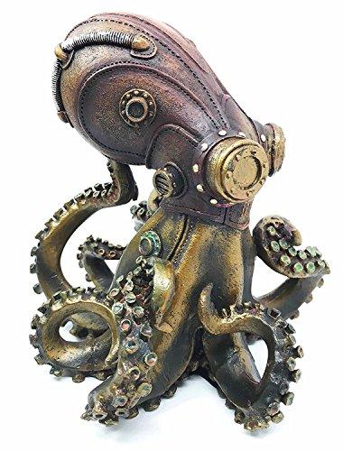Statue No Arms (Steampunk Giant Kraken Octopus Marauder Military Deep Sea Unit Figurine Decor For Sci Fi Fantasy Lovers)