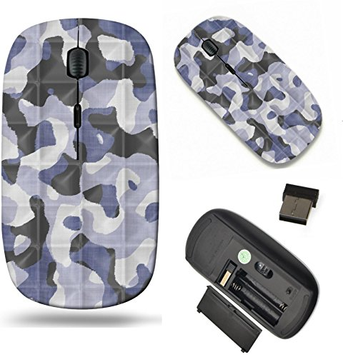(MSD Wireless Mouse Travel 2.4G Wireless Mice with USB Receiver, Noiseless and Silent Click with 1000 DPI for notebook, pc, laptop, computer, mac book design: 13972011 Quilted Camouflage Seamless Textu)