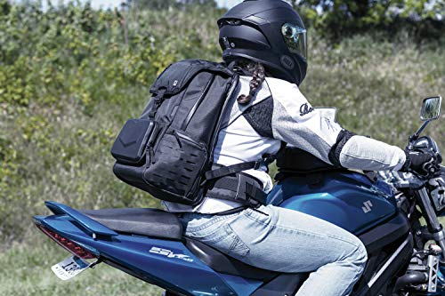 Kuryakyn 5292 XKursion XB Dispatch Backpack: Weather Resistant Motorcycle Travel Luggage Bag with Mounting Straps, Black