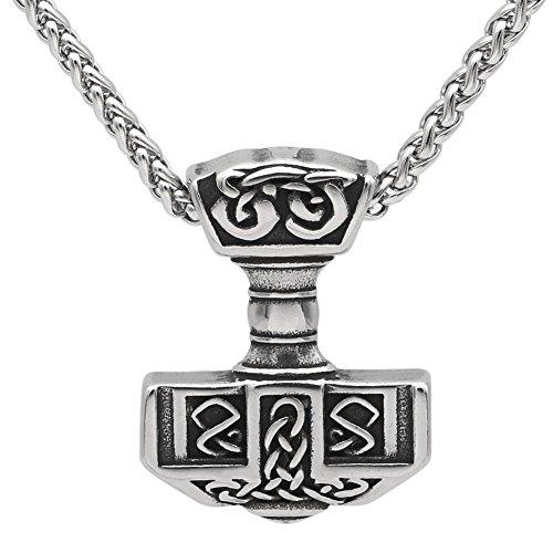 GuoShuang Men 316L Stainless Steel Norse Viking Thor