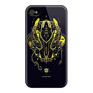 Iphone 4/4s Bkv13134iTFe Unique Design Stylish Transformers Bumblebee Skin Bumper Hard Phone Cover -AnnaDubois