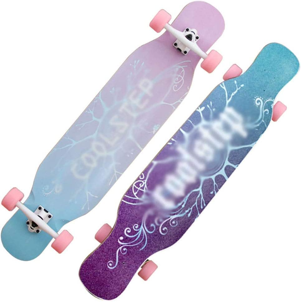 GLJJQMY スクーターボーイガール四輪ダンスボード初心者カエデスケートボードプロスケートボード青少年四輪スクーター スケートボード (Color : A) A
