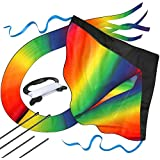 aGreatLife Huge Rainbow Kite for Kids a Kite Easy to Fly for Outdoor Games and Activities | Easy to Fly and Soars High, A Great Way to Enjoy and Spend Time with Friends and Family