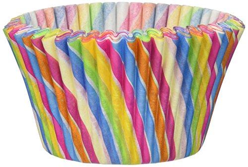 Cupcake Creations Jumbo Baking Cups Rainbow Swirl 24/Pkg