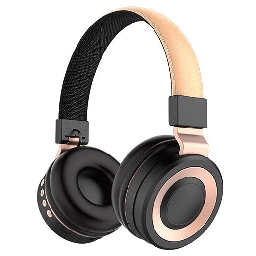 SHWEJ Auriculares Bluetooth, Auriculares EstéReo, Tarjeta SD ...