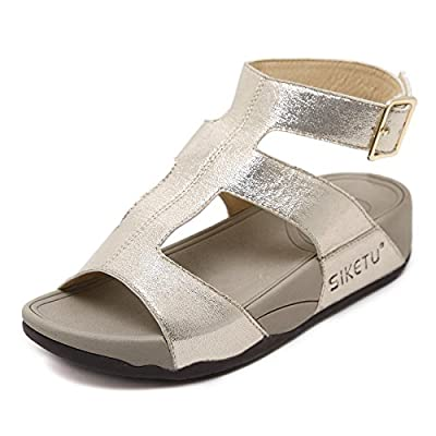 KUONUO Ladies Sandals Flat Platform Wedge Casual Fashion Summer Shoes for Women
