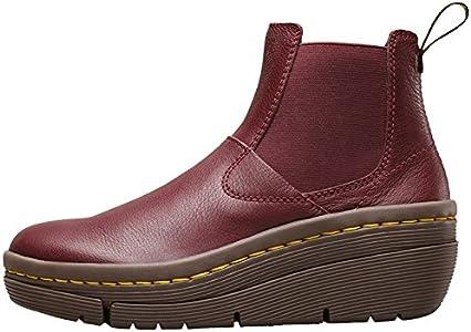 neuer & gebrauchter designer zuverlässige Qualität Kostenloser Versand Dr.Martens Womens Brienna Cherry Red Leather Boots 38 EU ...