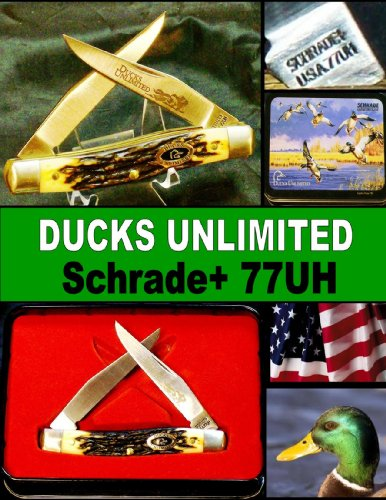 1990's Schrade+ Ducks Unlimited 77UH Special Edition Muskrat Knife In Original Tin ()