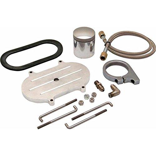Helix XXJLMRMCK3 Brake Reservoir Kit (Billet Remote Brake Reservoir Kit with Tank for Corvette Master Cylinder)