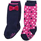 Robeez Baby-Girls Newborn Shiny Star 2 Pack Boot Socks