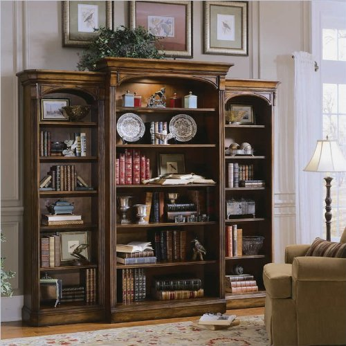 Hooker Furniture Brookhaven Wall Bookcase in Clear Cherry ()