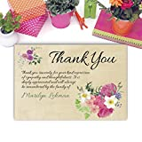 Sympathy Acknowledgement Cards, Funeral Thank You and Bereavement Notes Personalized