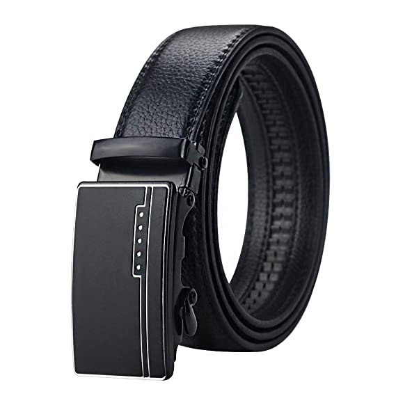 Men/'s belt Quick lock belt Leather Belt Dress//casual belt NWT Auto lock belt