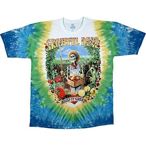 Liquid Blue Men's Grateful Dead Let It Grow Short Sleeve T-Shirt,Multi,Medium ()