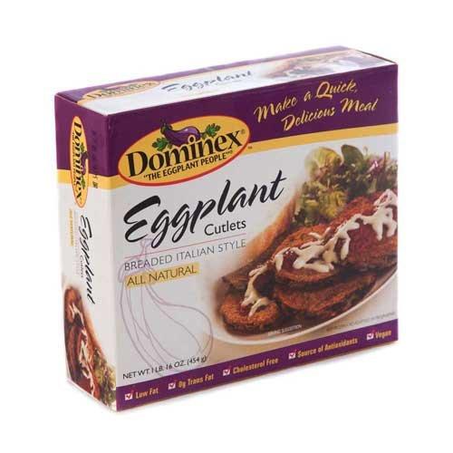 Dominex Eggplant Cutlets, 1 Pound -- 6 per case.