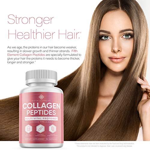 51dLcQuyAKL - Collagen Peptides Collagen Pills - Anti-Aging, Healthy Hair, Skin & Nails - Multi Collagen Supplements Powder Capsules (Type I, II, III, V, X) - Hydrolysate, Hydrolyzed Marine Super